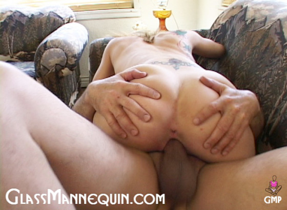 Skinny Tattooed Blonde Loves A Fat Cock